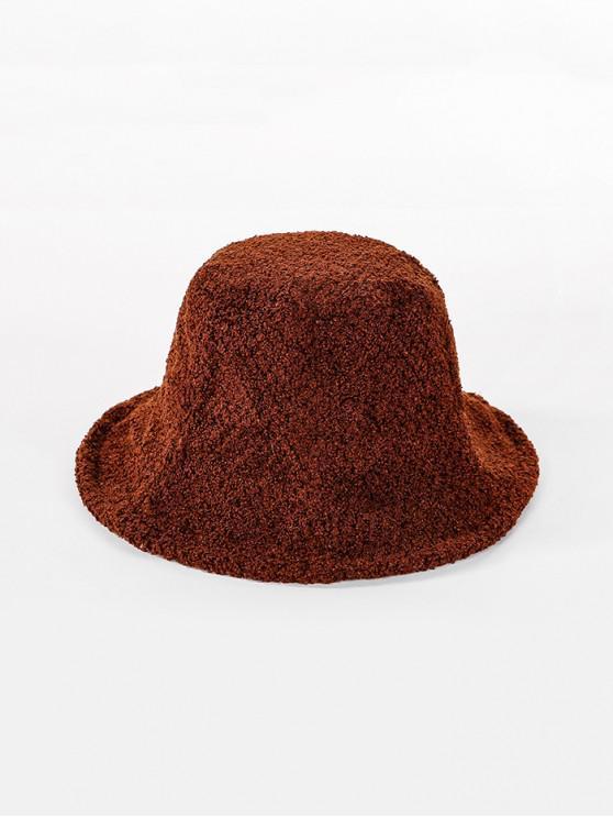 latest Winter Round Bucket Hat - CARAMEL