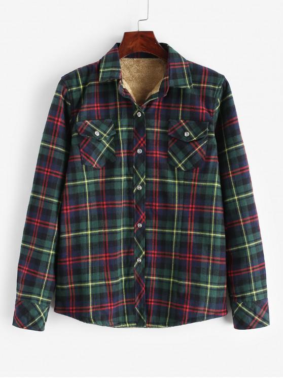 Chemise Boutonnée à Carreaux à Doublure en Laine - Multi-A M