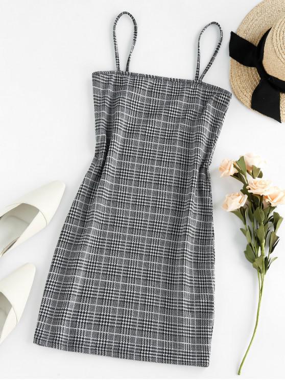 fashion ZAFUL Plaid Spaghetti Strap Sheath Dress - MULTI-B S