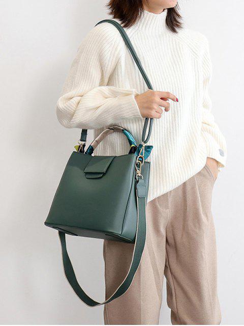 簡單固體絲帶點綴手袋 - 中等海綠色  Mobile