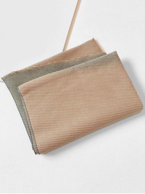 Gradient Streifen Crinkle langer Schal - Schwein Rosa  Mobile