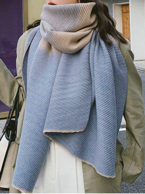 Gradient Streifen Crinkle langer Schal - Blaugrau  Mobile