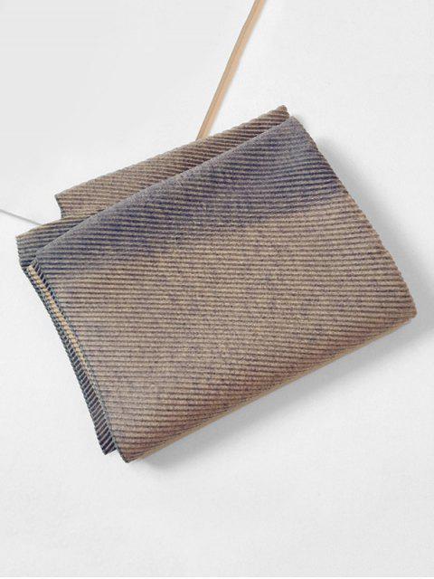 Gradient Streifen Crinkle langer Schal - Mittleres Lila  Mobile