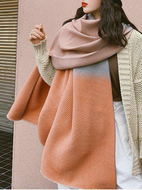 Gradient Streifen Crinkle langer Schal - Mandarine  Mobile