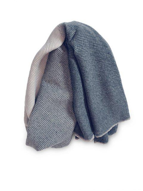 Gradient Streifen Crinkle langer Schal - Schwarz  Mobile