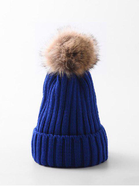 冬季固簡單泡泡龍帽子 - 藍色  Mobile