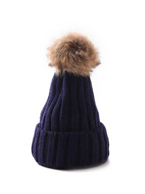 Winter Einfarbige Einfache Pudelmütze - Kadettenblau  Mobile