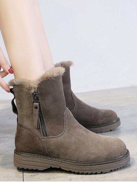 outfit Side Zip Mid Calf Snow Boots - LIGHT KHAKI EU 39 Mobile