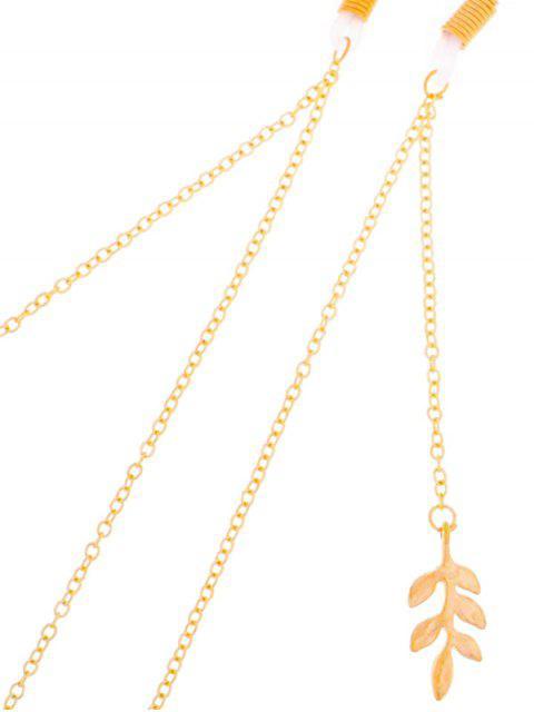 Blatt-Niederlassungs-Legierung Sonnenbrille Lanyard - Gold  Mobile