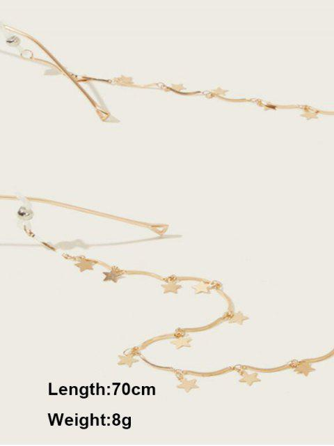 合金星吊墜太陽鏡掛繩 - 金  Mobile