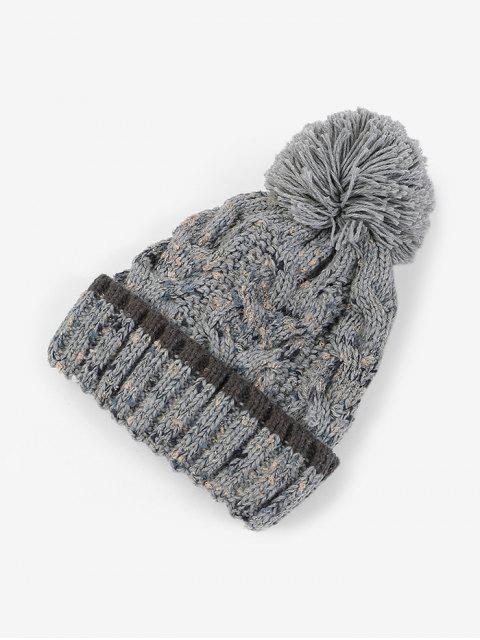 Толстая Зимняя Шерстяная Шляпа Пряжа - Серый  Mobile