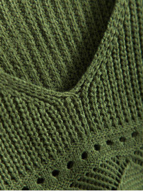 Regata Felpuda de Tricô com Escrita - Verde Escuro Um Tamanho Mobile