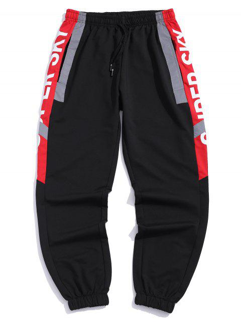 fancy Letter Graphic Print Jogger Pants - RED XL Mobile