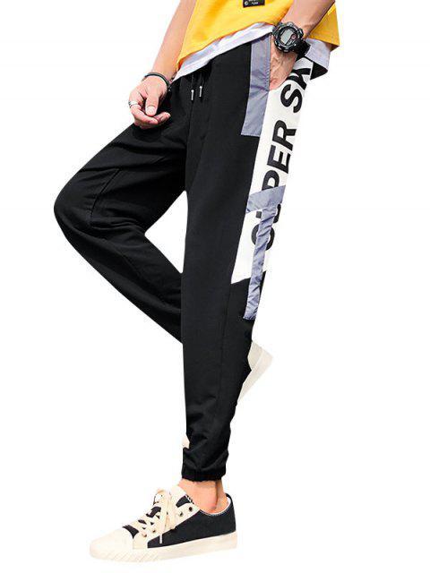 ladies Letter Graphic Print Jogger Pants - WHITE 3XL Mobile