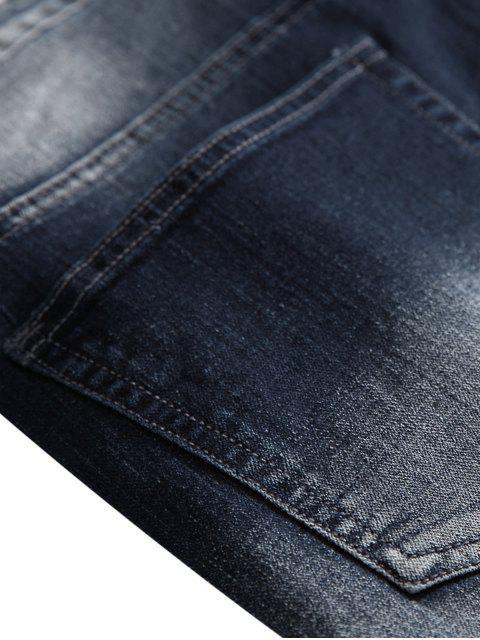 Zerrissene Jeans mit Patchwork - Denim Dunkelblau 42 Mobile