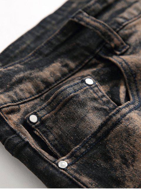 Alte Bedruckte Reißverschluss Lässige Jeans - Kupfer 40 Mobile