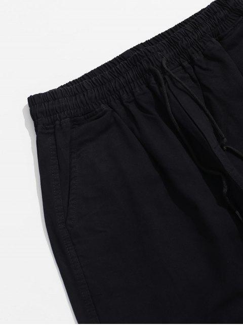 色塊裝飾口袋休閒褲 - 晚 XL Mobile