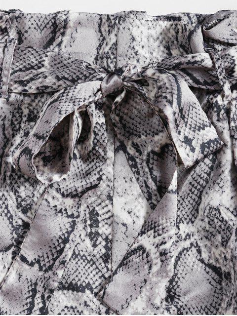 ZAFUL Set de Boquillas con Estampado de Serpiente con Cinturón - Negro M Mobile