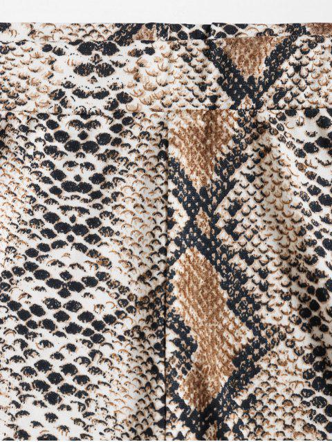 ZAFUL Conjunto de Bikini de Bandeau de Piel de Serpiente - Multicolor-A XL Mobile