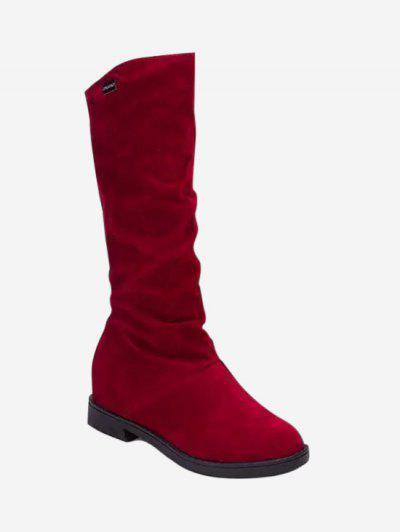 Erhöhte Interne Geraffte Kurze Stiefel - Lava Rot Eu 38
