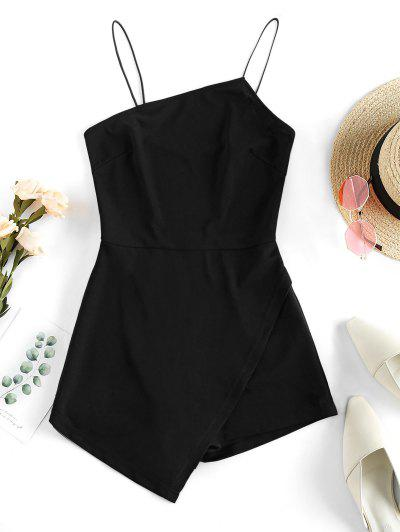 ZAFUL Asymmetric Cami Romper - Black M