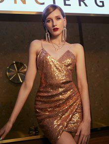 ZAFUL الترتر رايات كامي اللباس البسيطة - الشمبانيا الذهب S