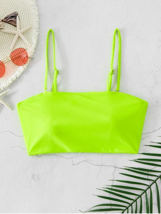 online ZAFUL Neon Padded Bandeau Bikini Top - GREEN YELLOW L