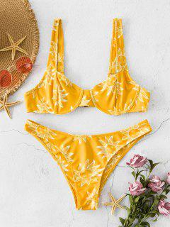 ZAFUL Sun Print Underwire Low Waisted Bikini Swimsuit - Multi-a S