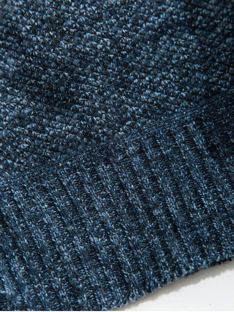 Solide Kunstpelz Kapuzenjacke - Marmor Blau M Mobile