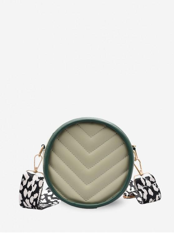 outfit Wide Strap V Quilted Canteen Bag - LIGHT GREEN