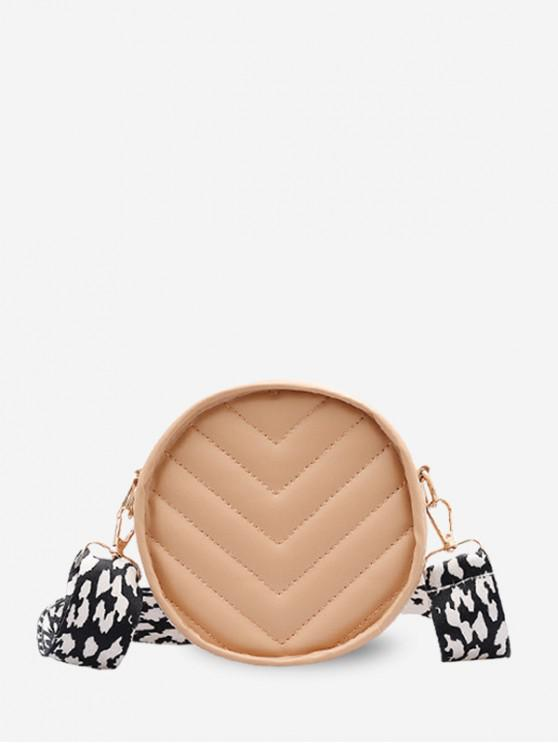 trendy Wide Strap V Quilted Canteen Bag - BROWN SUGAR