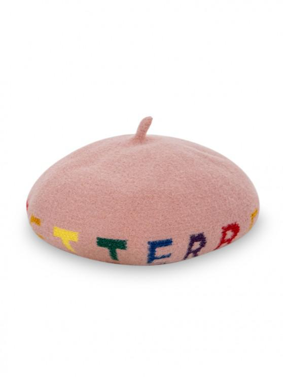best Letter Pattern Painter Beret Hat - PINK