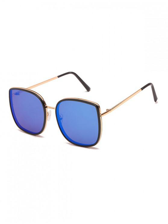 outfits Driving Oversized Metallic Frame Polarized Sunglasses - DODGER BLUE