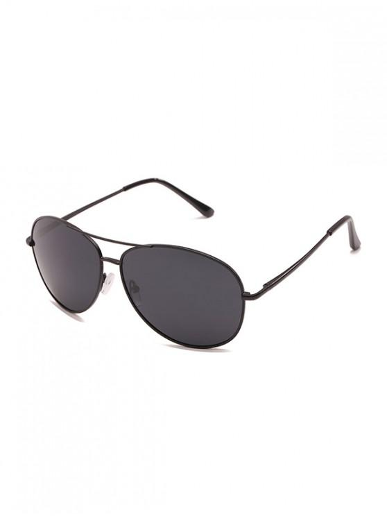 shops Driving Simple Pilot Metallic Frame Sunglasses - BLACK