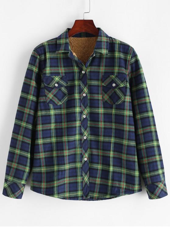 Chemise Boutonnée à Carreaux à Doublure en Laine - Multi-D M