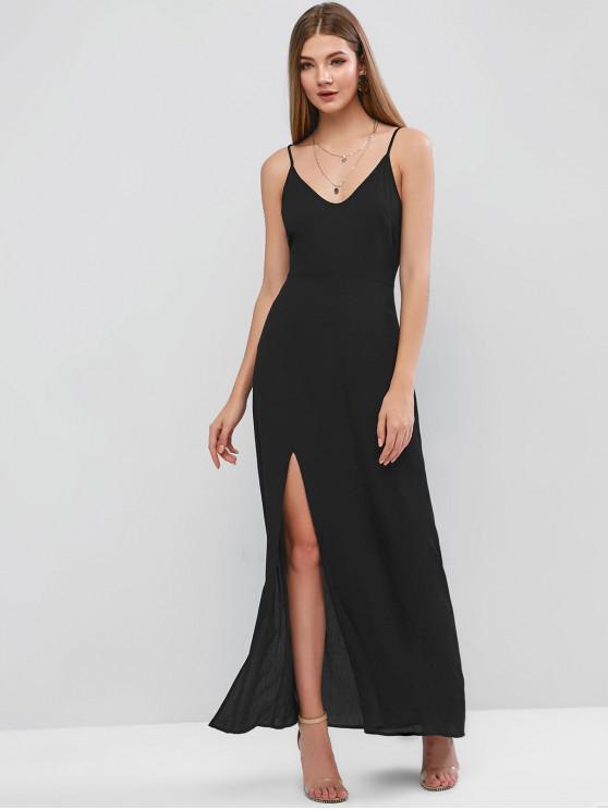 online ZAFUL Slit Maxi Cami Dress - BLACK L