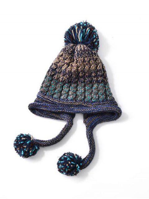 Вязаная Шляпа С наушниками Смешанный цвет - Синий  Mobile