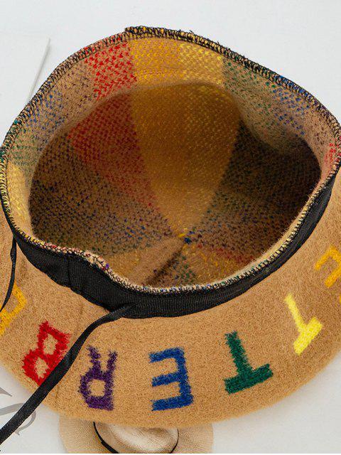 new Letter Pattern Painter Beret Hat - CAMEL BROWN  Mobile