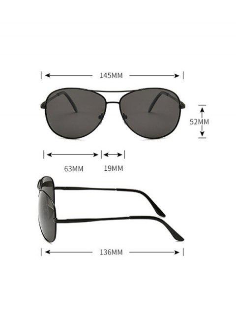 駕駛簡單試點金屬框架太陽鏡 - 黑色  Mobile