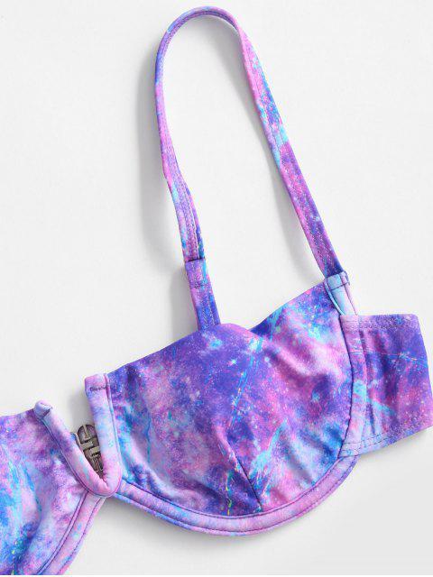 ZAFUL Bikini de Corte Alto en V con Aros - Multicolor-A L Mobile