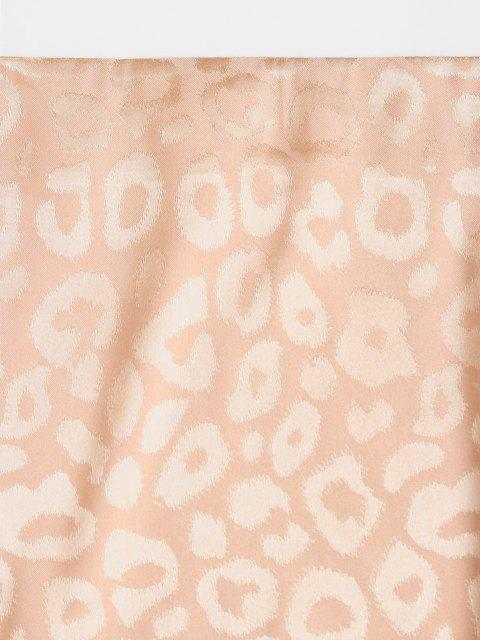 fancy ZAFUL Leopard Slit Mini Skirt - CAMEL BROWN S Mobile