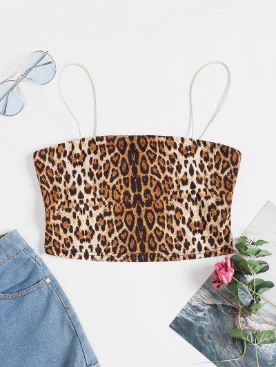 ZAFUL Leopard Print Crop Cami Top - Leopard S