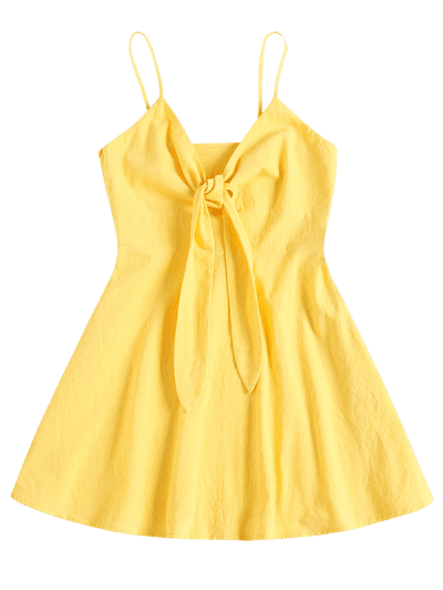 ZAFUL Tie Front A Line Cami Dress