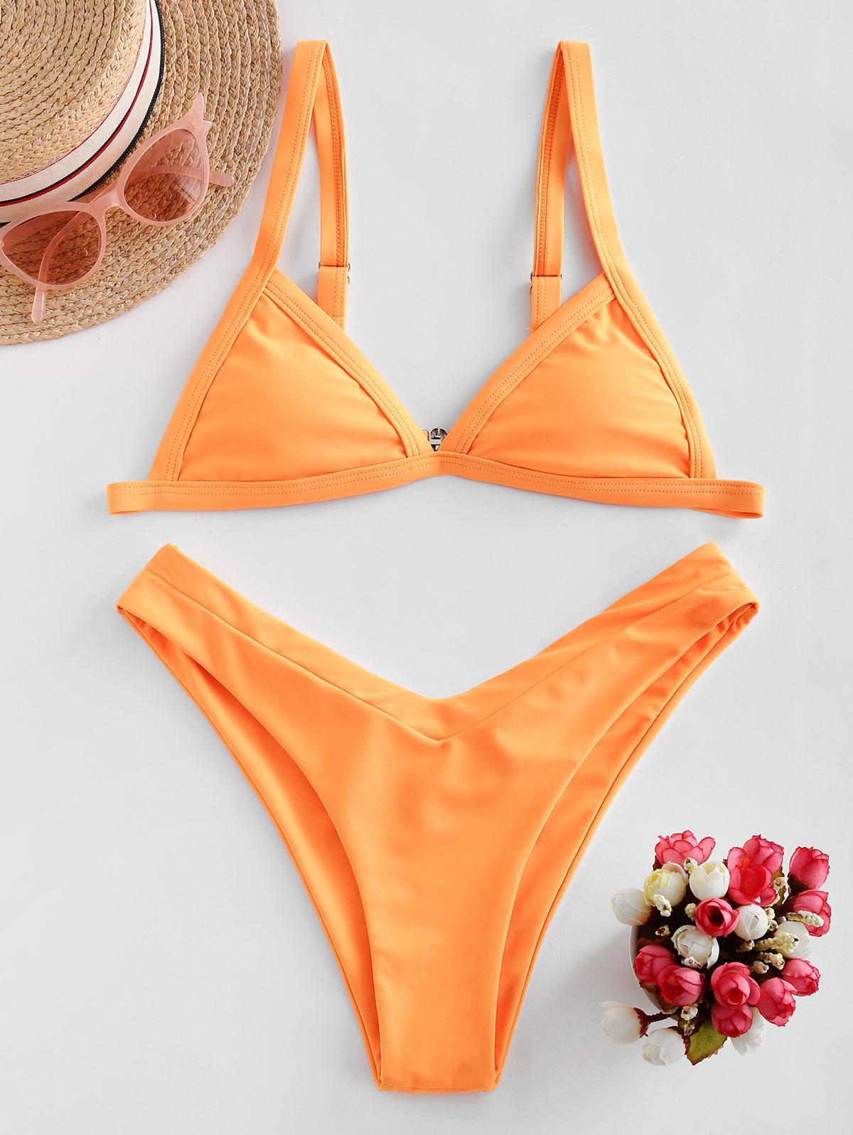 ZAFUL Neon High Cut Padded Bikini Swimsuit thumbnail