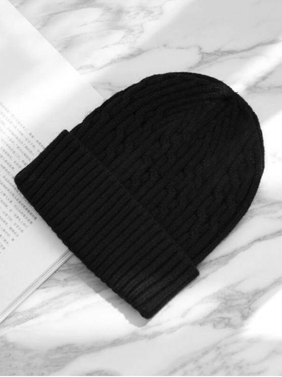ถักหมวกฤดูหนาว - สีดำ
