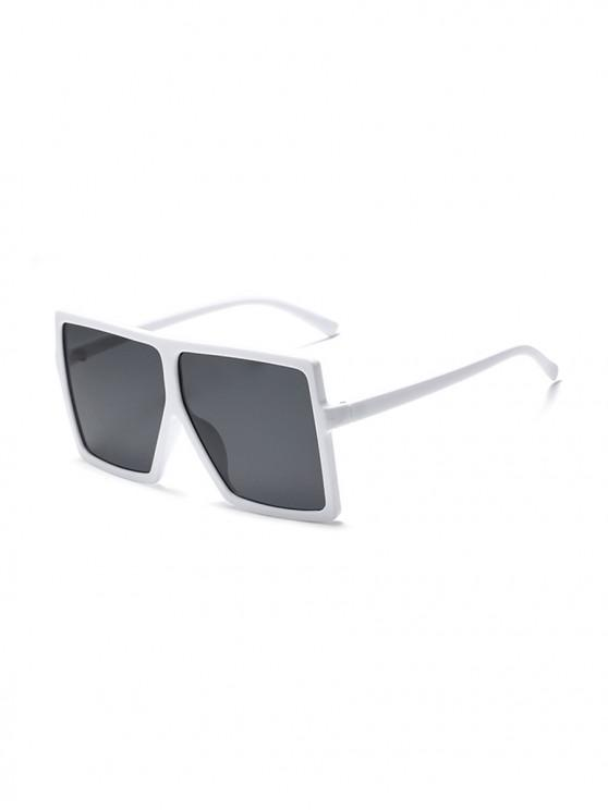 chic Oversized Gradient Square Sunglasses - MILK WHITE