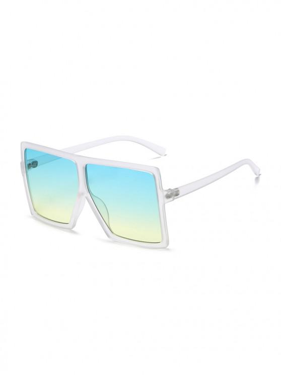 fancy Oversized Gradient Square Sunglasses - WHITE