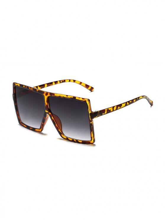 affordable Oversized Gradient Square Sunglasses - LEOPARD