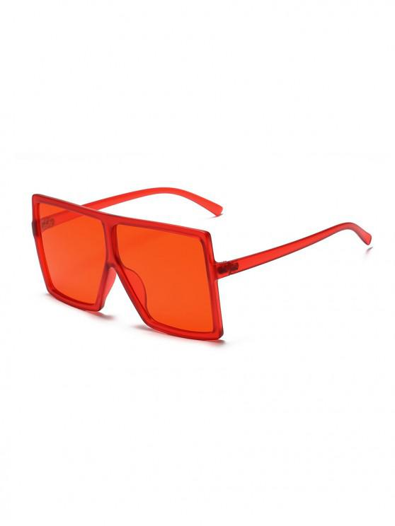 women Oversized Gradient Square Sunglasses - RED