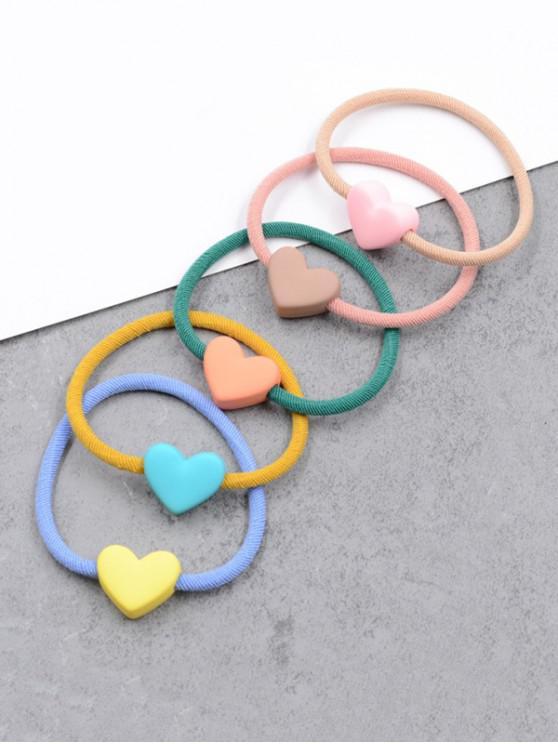 5顆心臟裝飾彈性發帶 - 多-A